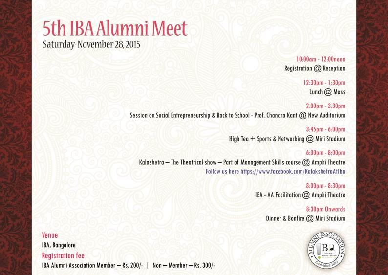 Alumni Meet agenda